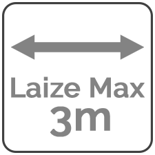 Laize maximum de 3 mètres