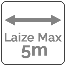 Laize maximum de 5 mètres
